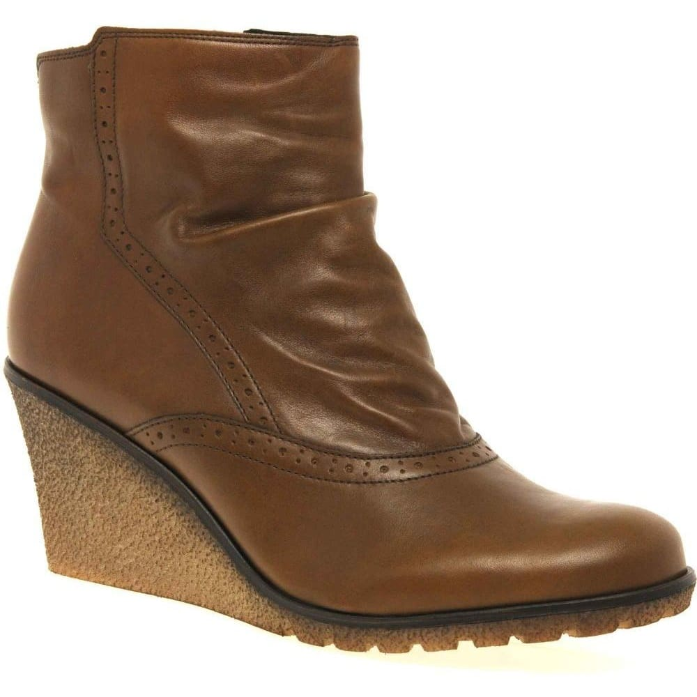 gabor ankle boots wedge heel leather gabor shoes