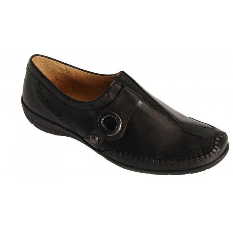 Black Leather Court Shoes Uk