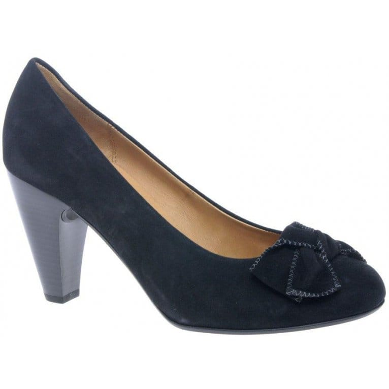 gabor chandler court shoes black suede charles clinkard