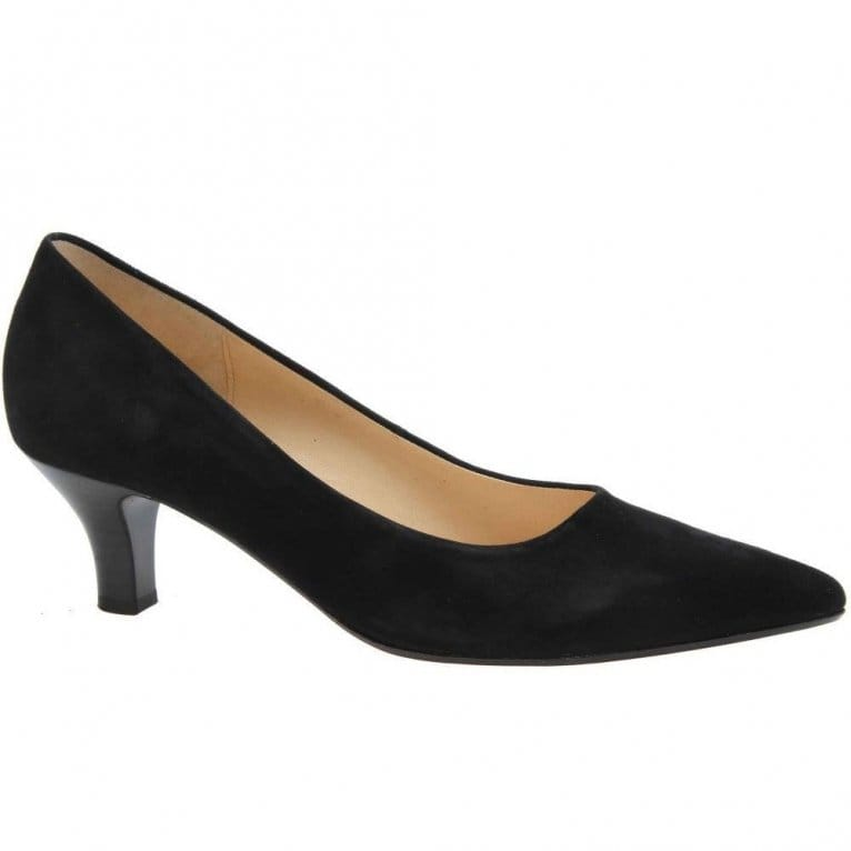 gabor arnica courts black suede point toe gabor shoes