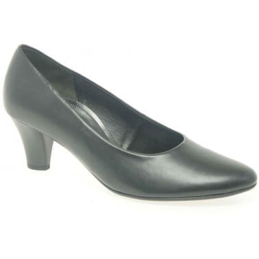Gabor Beautiful Womens Black Court Shoes