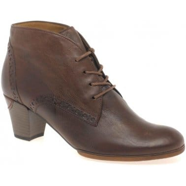 Gabor Jayse Ladies Leather Lace Up Ankle Boots