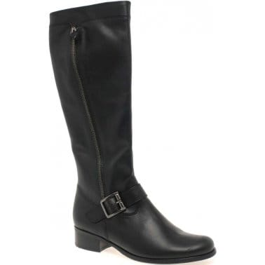 Gabor Jessica Womens Narrow Leg Leather Long Boots
