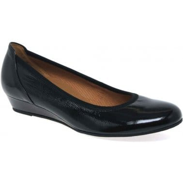 Gabor Chester Ladies Wide Fit Low Wedge Pumps