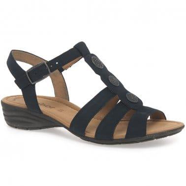 Eartha Womens Casual T-Bar Sandals