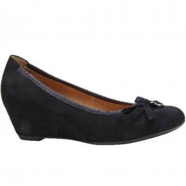 Amorette Womens Wedge Heeled Dress Court Shoes