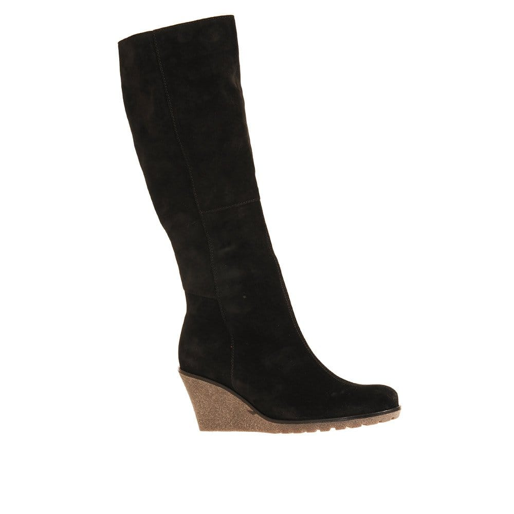gabor rinkata boots suede wedges gabor shoes