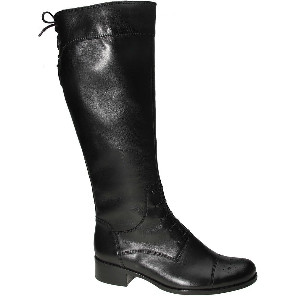 gabor salo black leather boots gabor from gabor