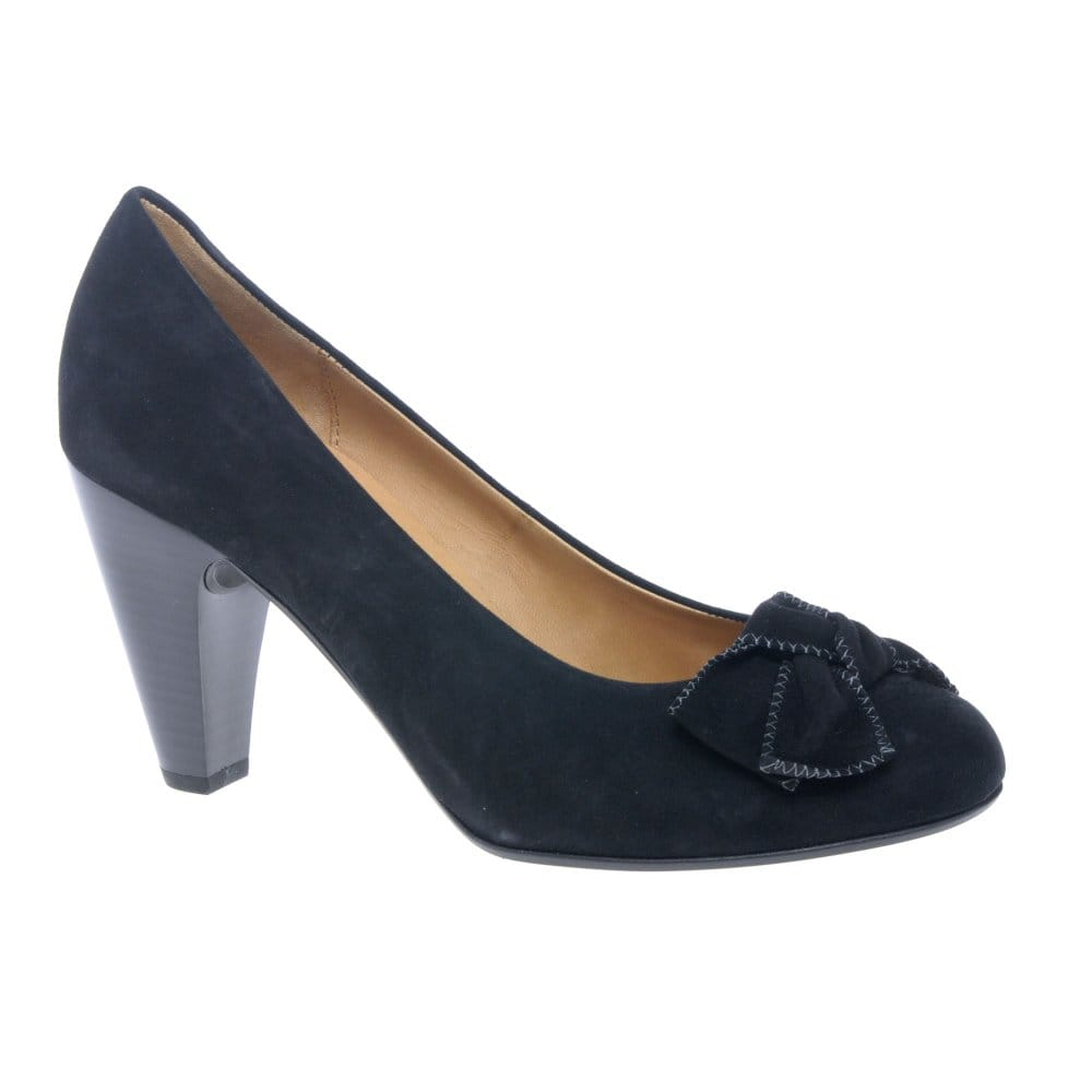 gabor chandler black suede court shoes gabor from