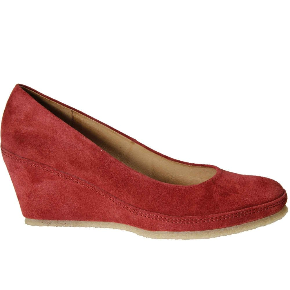 gabor teller court shoes suede wedges charles clinkard