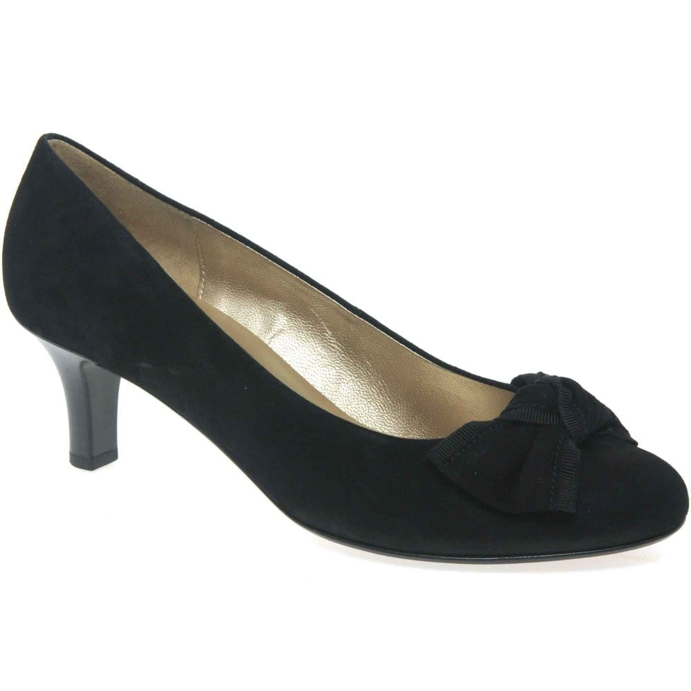 gabor toyah court shoes black suede pumps charles clinkard