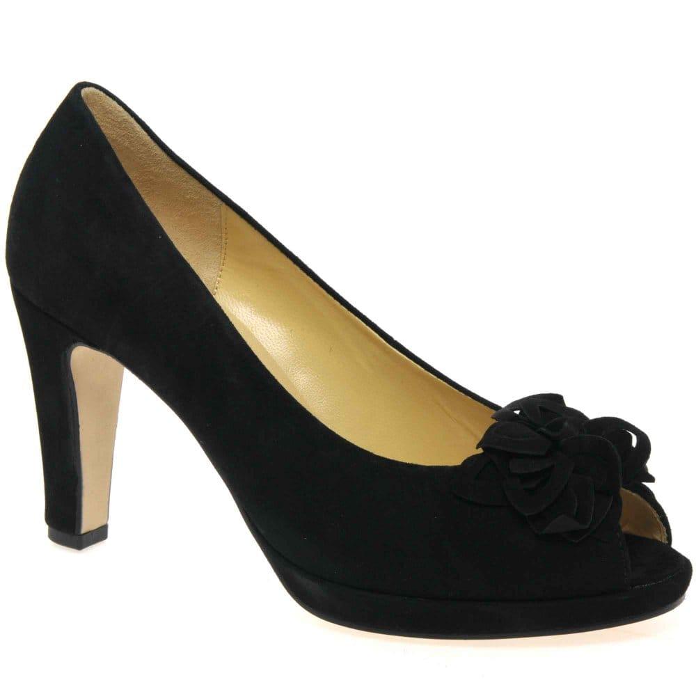 Womens Christian Louboutin Peep Toe You You 70mm Patent Leather Pumps Black