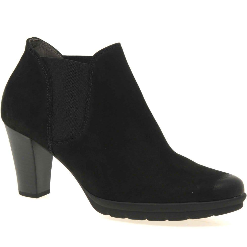 gabor arcadia chelsea boots nubuck heels charles clinkard