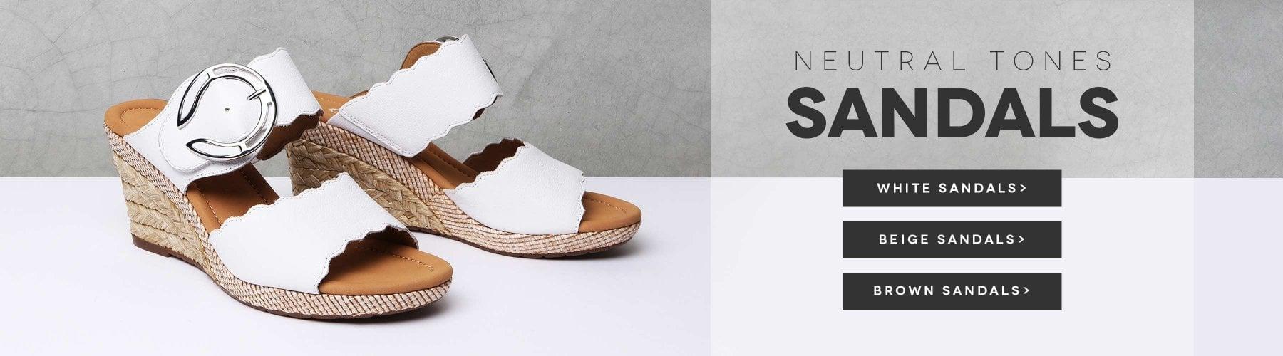 bca795d0ae3 Neutral Tones Sandals