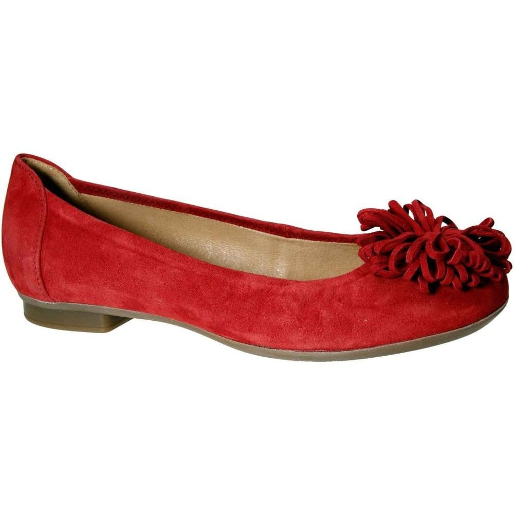 Gabor Red Sflat Shoes Size