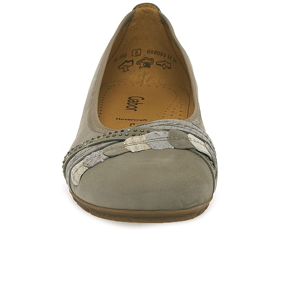 3b7d32364e0f6 Gabor Ashmill Ballet Pumps   Ladies Nubuck   Charles Clinkard