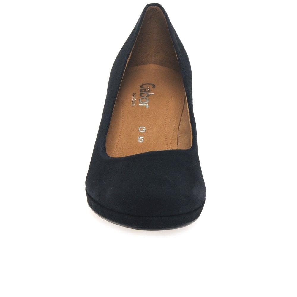 f489bce636 Ella Womens Wide Fit Suede Court Shoes