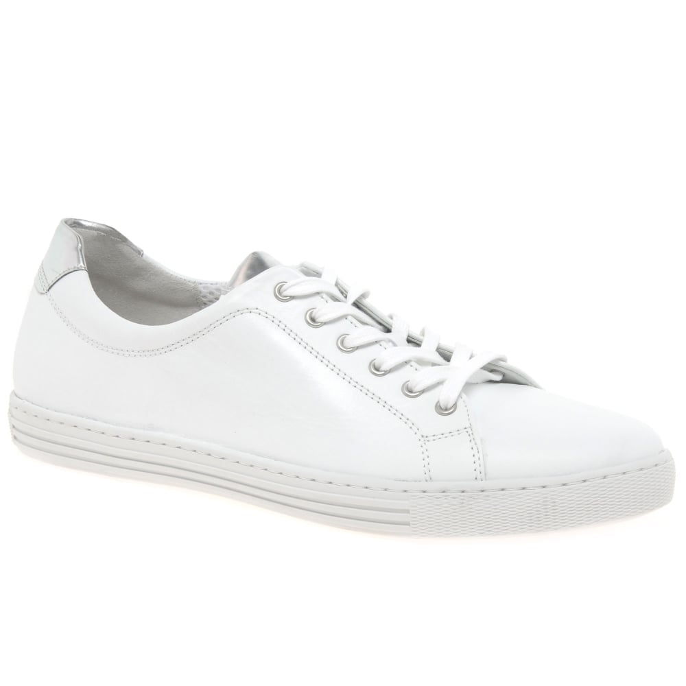 f6fed8ce480 Hooper Womens White Leather Casual Trainers