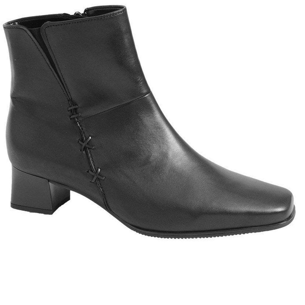 7b54122c1d3d Bassanio Leather Womens Black Ankle Boots