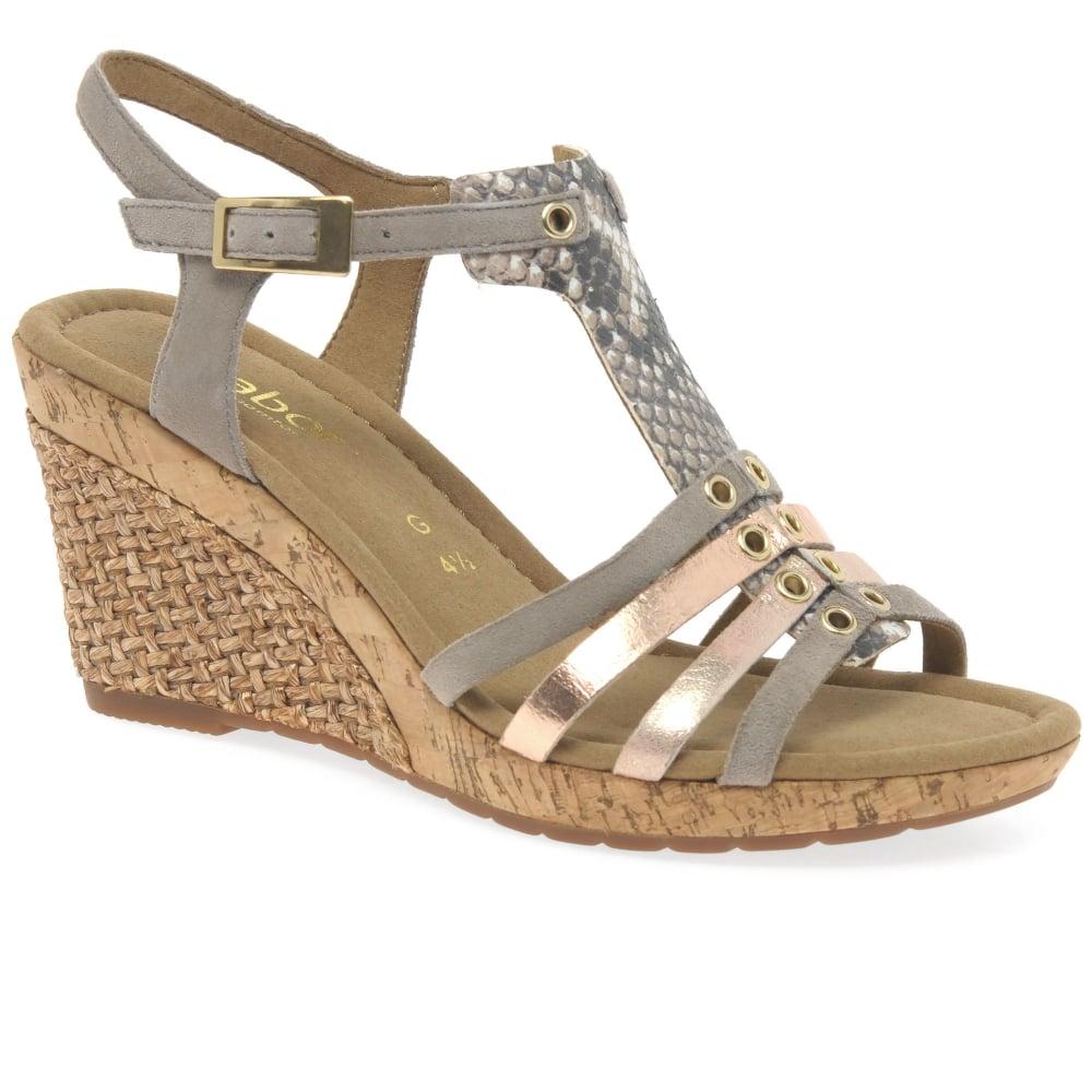 gabor iris wedge heel dress sandals s from