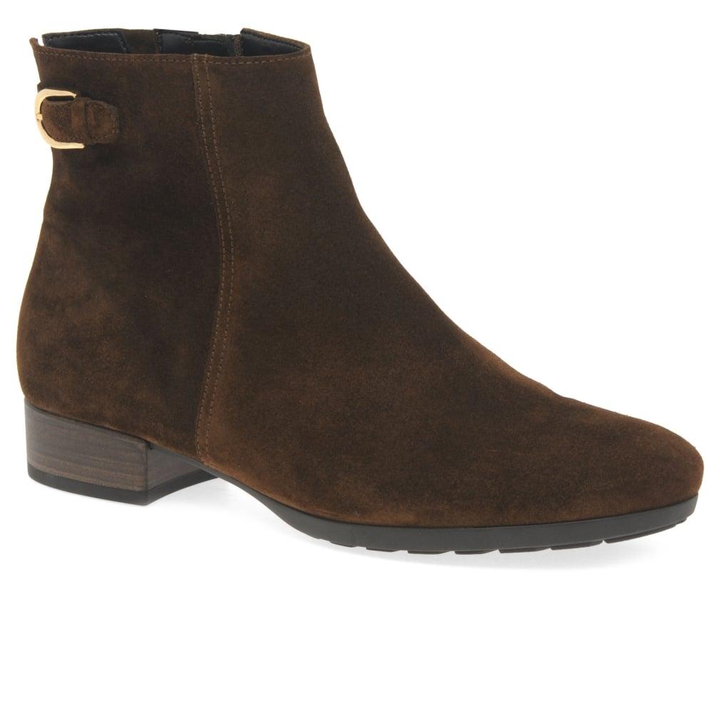 Gabor Partner Ladies Suede Buckle Ankle Boots  ac75c321320e