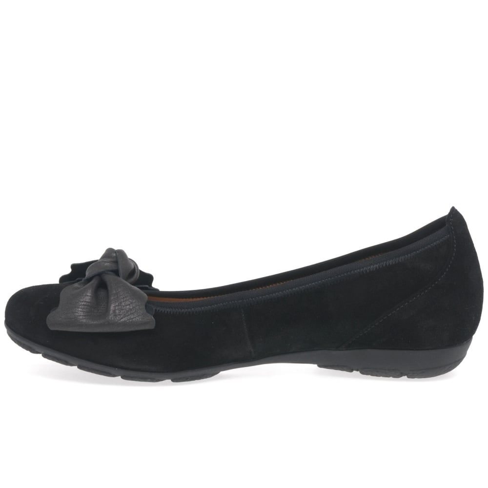 Black suede 'Brenda' women's casual ballet pumps outlet locations cheap online clearance latest outlet affordable cheap with paypal B3PVR