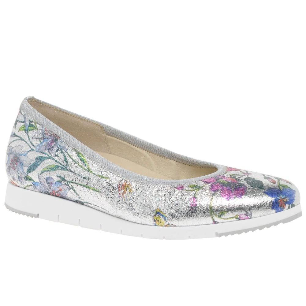 ae0a27b8dec5 Gabor Linea Ladies Floral Metallic Shoes