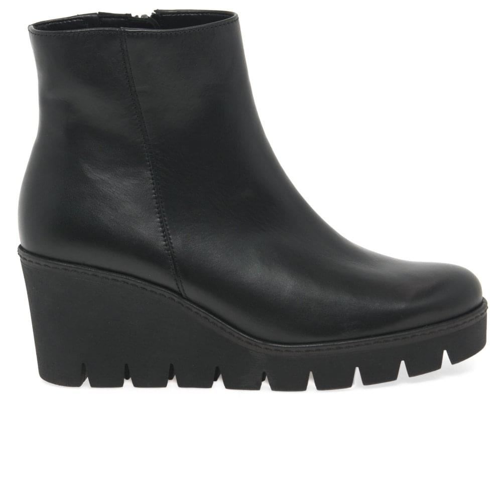 half off 7e164 d2129 Utopia Ladies Chunky Wedge Heel Ankle Boots