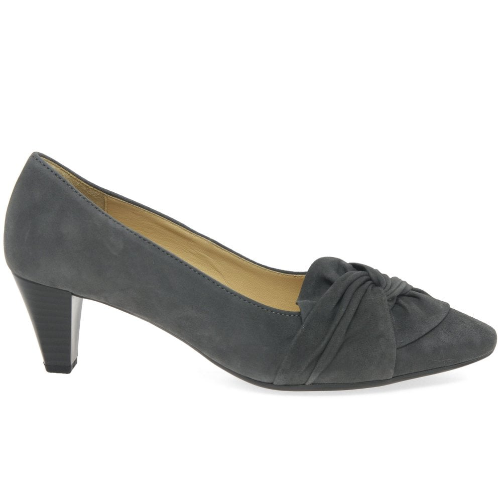 647aaedb0f1 Gabor Tricky Ladies Modern Knotted Bow Court Shoes