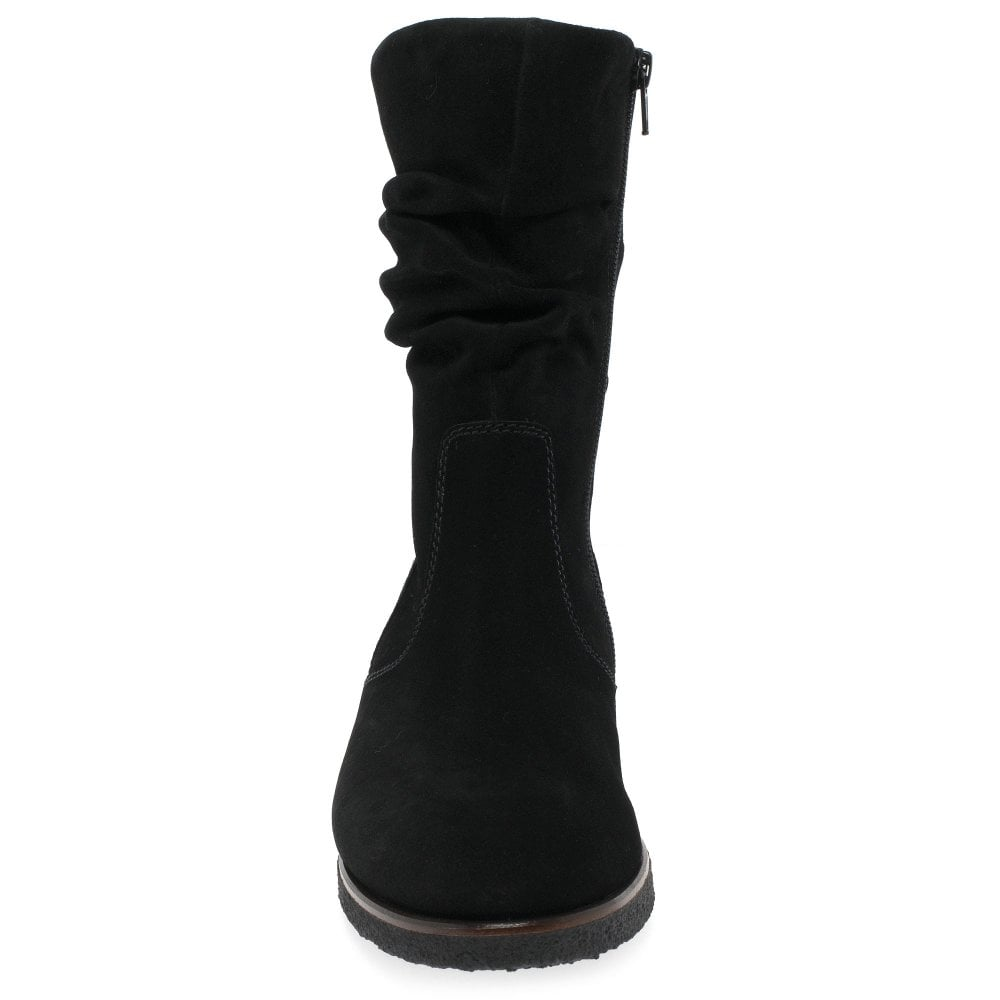 6e15aadef Gabor Greendale Ladies Ruched Suede Calf Boots | Gabor Shoes