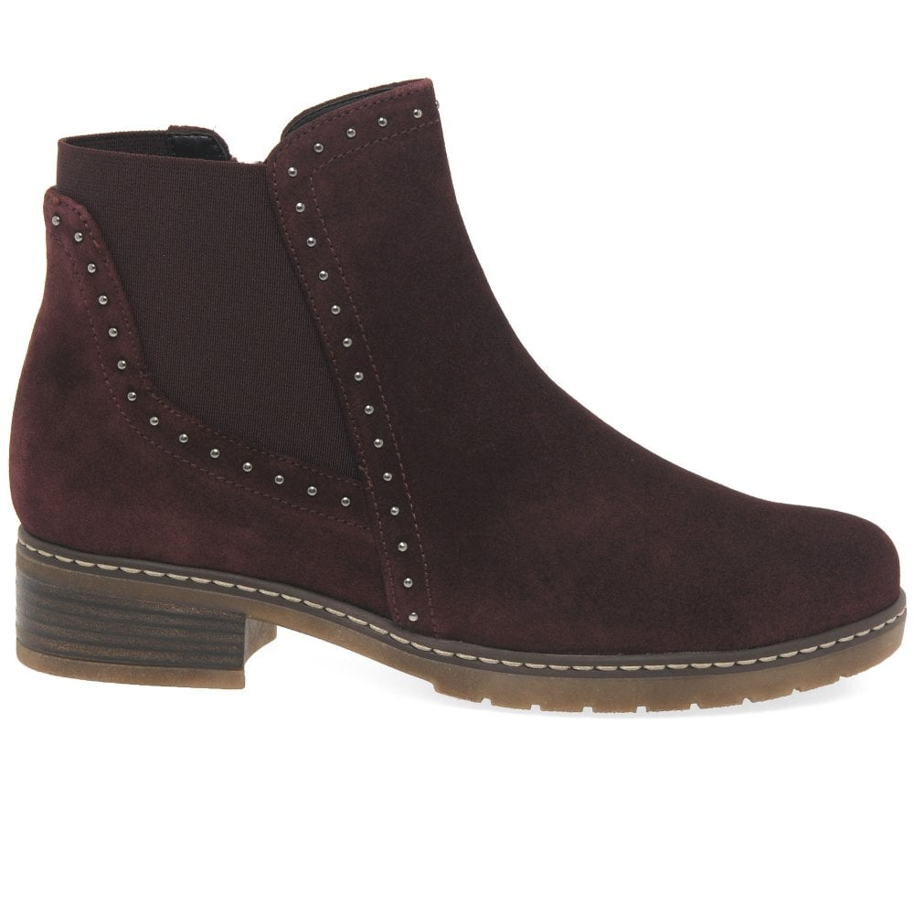 3e42a34f90cc2 Gabor Malibu Ladies Suede Studded Chelsea Boots | Gabor Shoes