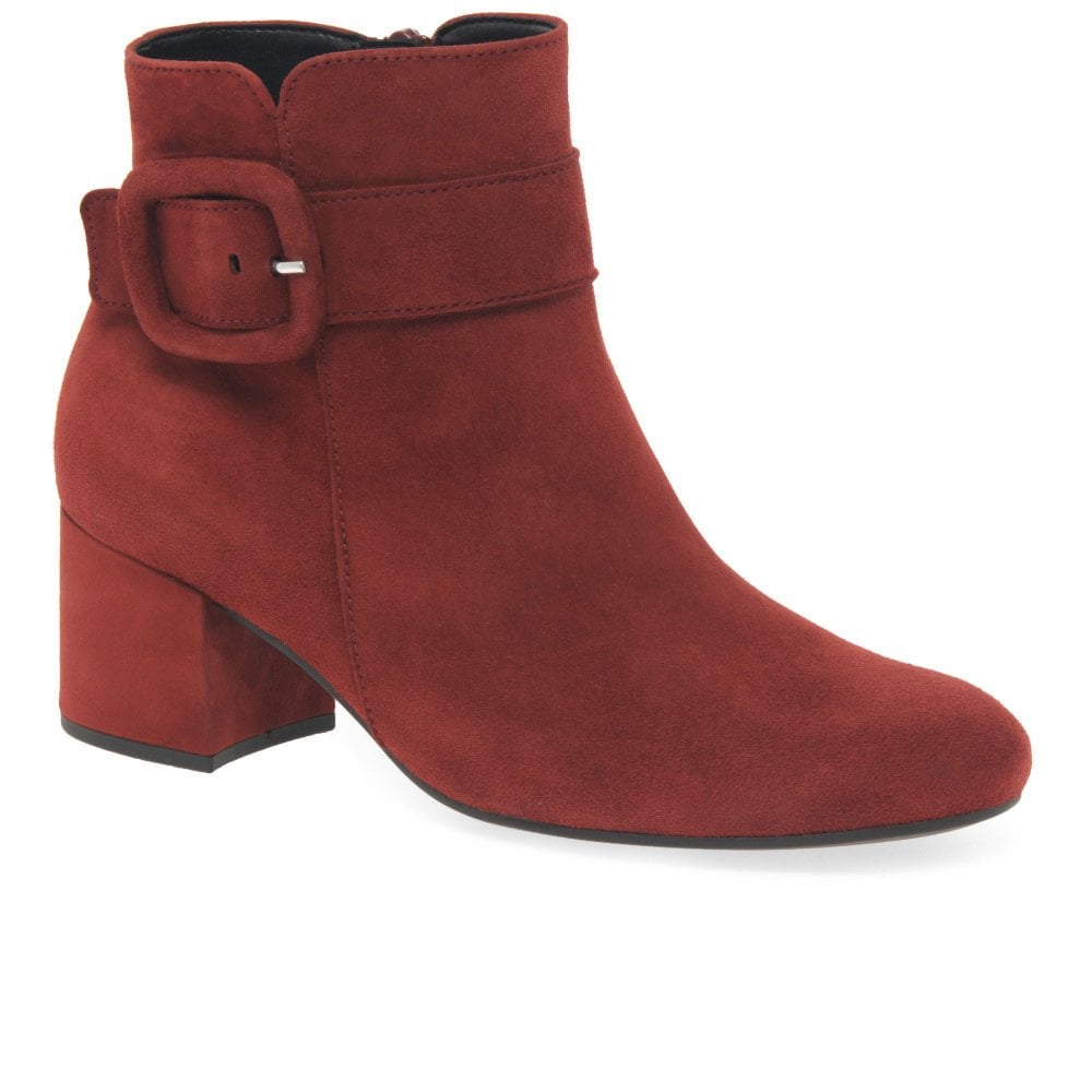 Capri Ladies Chunky Buckle Detail Ankle Boots