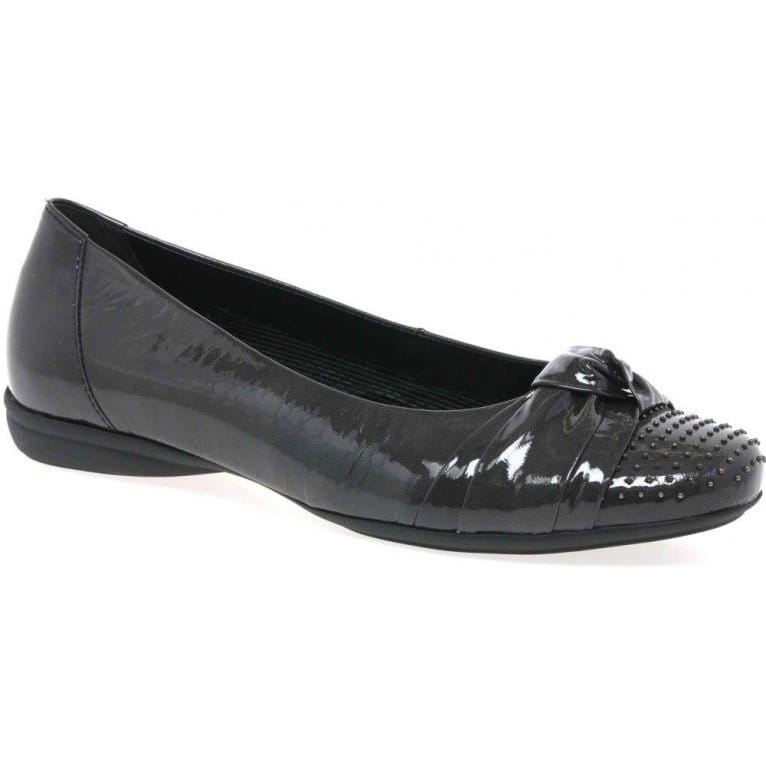 Gabor Grey Ladies Shoes Wide Fit