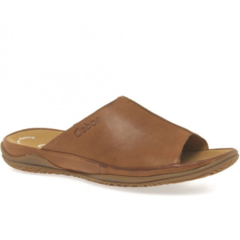Idol Leather Wide Fit Casual Womens Mules