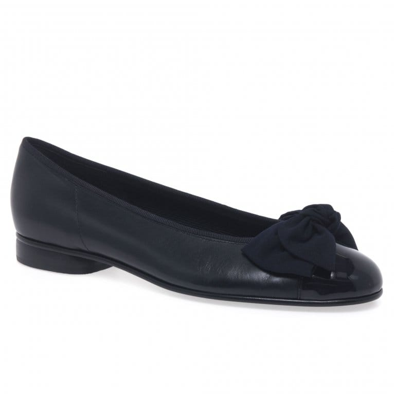 Gabor Amy Classic Bow Trim Ladies Ballet Pumps