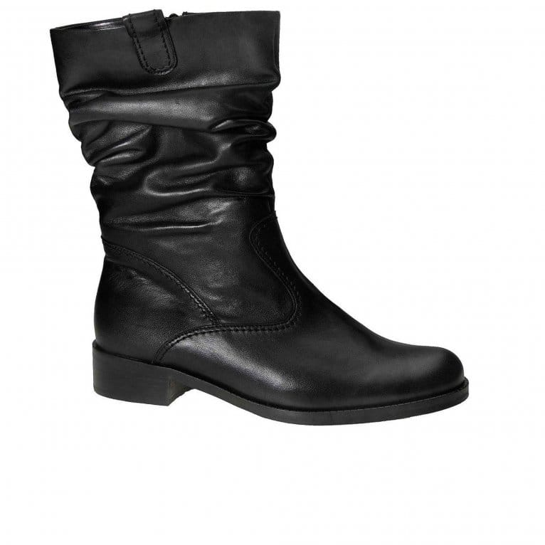 Gabor Trafalgar Wide Fit Rouched Ankle Boots