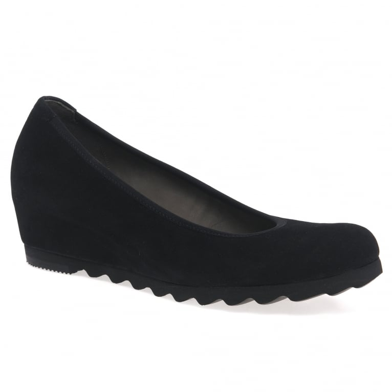 Request Womens Modern Wedge Court Shoes