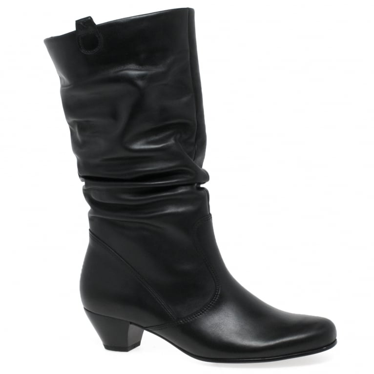 Gabor Rachel Leather Wide Calf Boots