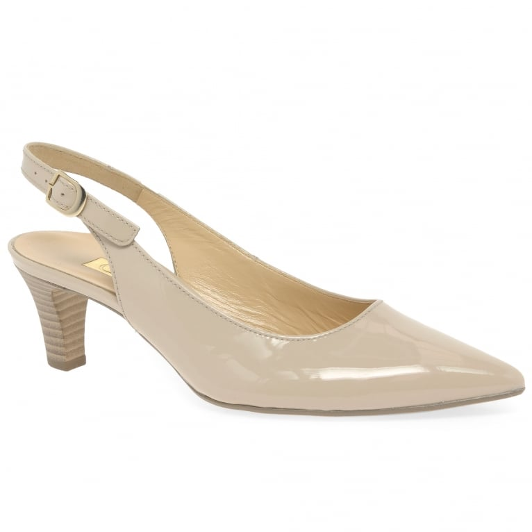 Gabor Hume 2 Ladies Patent Slingback Shoes   Charles Clinkard 61cba72f6e