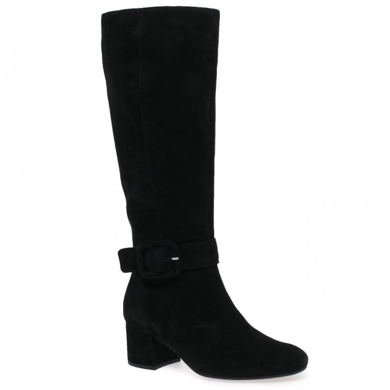 Gabor Carnation M Ladies Long Buckle Detail Boots