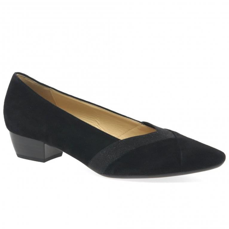 Opera Ladies Contrast Insert Court Shoes