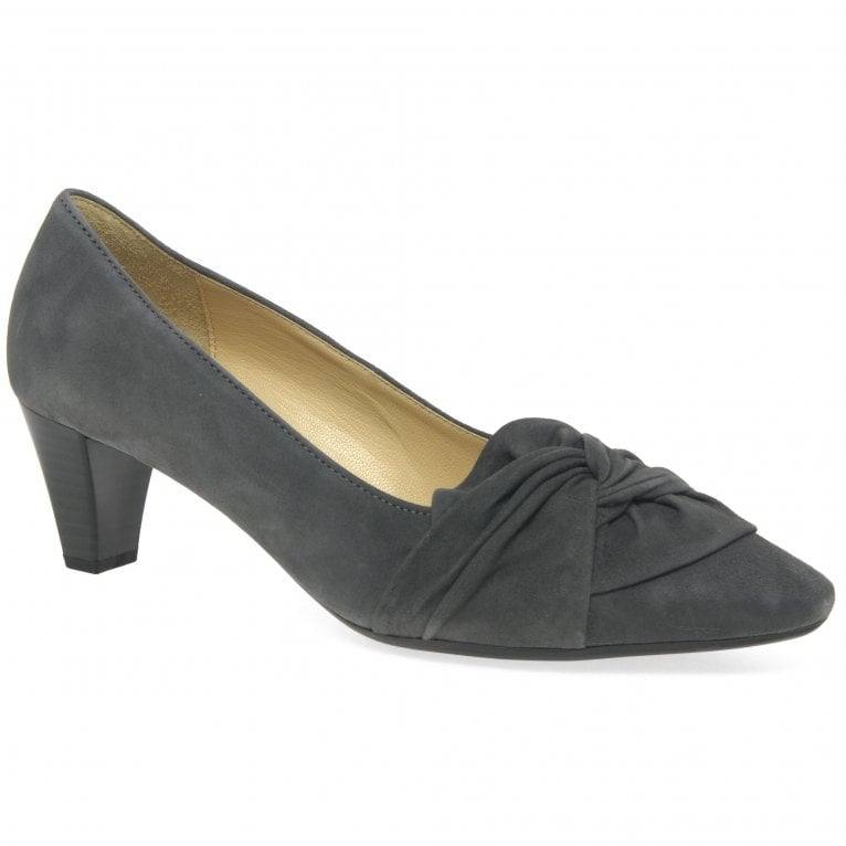 Gabor Tricky Ladies Modern Knotted Bow Court Shoes