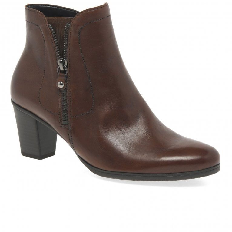 Gabor Miriam Ladies Modern Leather Zip Ankle Boots