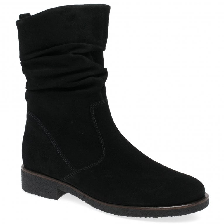 Greendale Ladies Ruched Suede Calf Boots