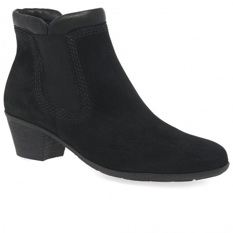 Sound 2 Ladies Zip Leather Top Chelsea Boots