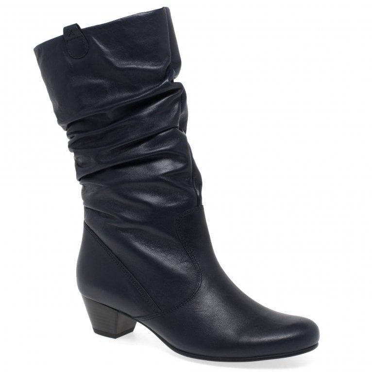 Rachel Leather Wide Calf Boots | Gabor