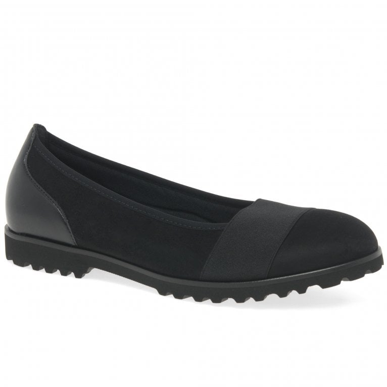 Gabor Geysir Ladies Black Casual Slip On Shoes