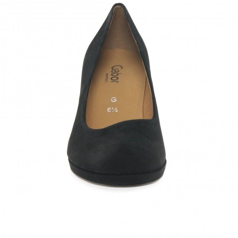 71a9a086715 Ella Ladies Suede Wide Fit Court Shoes