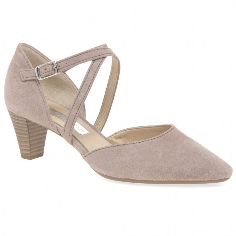 Gabor Callow Ladies Modern Cross Strap Court Shoes
