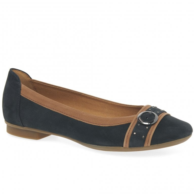 Michelle Womens Casual Stud Buckle Pumps